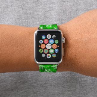 Bracelet Apple Watch Bande de montre verte de pomme de flocon de neige