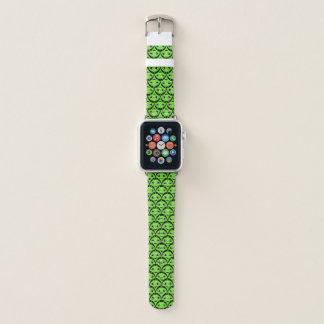 Bracelet Apple Watch Bande de montre verte mignonne d'Apple d'aliens