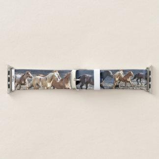 Bracelet Apple Watch Beau fonctionnement de chevaux sauvages