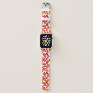 Bracelet Apple Watch Beau motif de feuille d'automne d'aquarelle