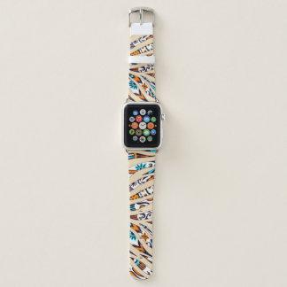 Bracelet Apple Watch Beige génial noir d'encre de motif