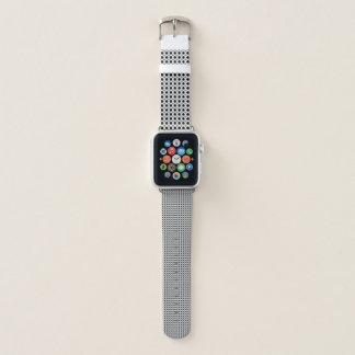 Bracelet Apple Watch Blanc avec les points noirs et gris