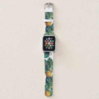 Bracelet Apple Watch blanc de pineaple et de citron