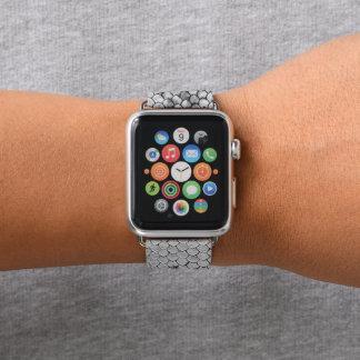 Bracelet Apple Watch Blanc de reptile