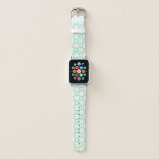 Bracelet Apple Watch Blanc d'ensemble de trèfle