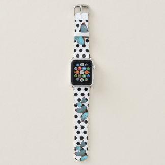 Bracelet Apple Watch Bleu de point de polka