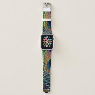 Bracelet Apple Watch Bohémien de plume de Peacocok