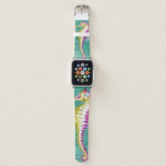 Bracelet Apple Watch bois de sarcelle d'hiver d'hippocampe