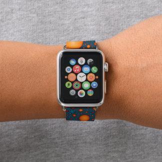Bracelet Apple Watch Bulles oranges