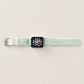 Bracelet Apple Watch Caducée avec l'arrière - plan de feuille