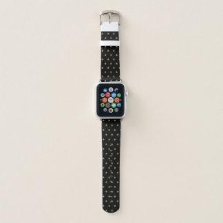 Bracelet Apple Watch Caïmite parties scintillantes de Faux observent la