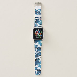 Bracelet Apple Watch Camo bleu