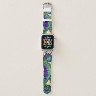 Bracelet Apple Watch Carte comique vintage d'hippocampe
