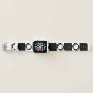 Bracelet Apple Watch Cercle B&W génial carré 4Colin