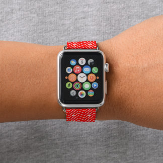 Bracelet Apple Watch Chaîne rouge de Z