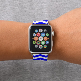 Bracelet Apple Watch Chevron bleu modelé