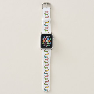 Bracelet Apple Watch Chien coloré d'amusement de motif de teckel