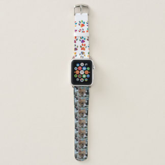 Bracelet Apple Watch chiot 2 de corgi de gallois de pembroke