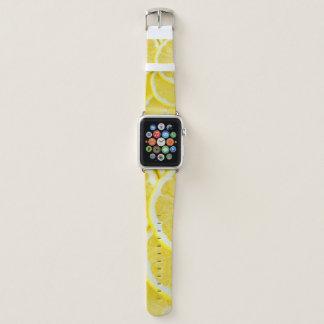 Bracelet Apple Watch Citrons jaunes de tranche
