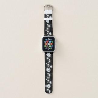 Bracelet Apple Watch Coeur de diamant d'étincelle