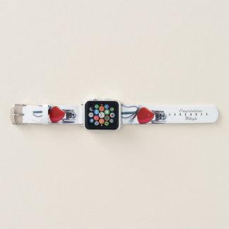 Bracelet Apple Watch Coeur et stéthoscope personnalisés
