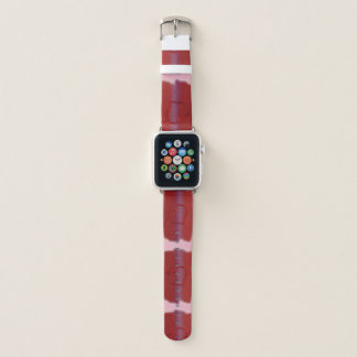 Bracelet Apple Watch Coeur rouge-rose et pourpre