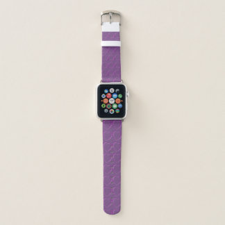 Bracelet Apple Watch Coeurs sur le pourpre