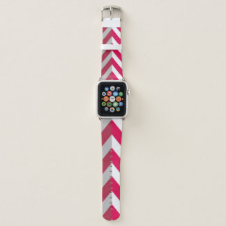 Bracelet Apple Watch Conception blanche rouge d'impression de motif de