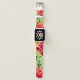 Bracelet Apple Watch Conception colorée de motif de collage de fruit