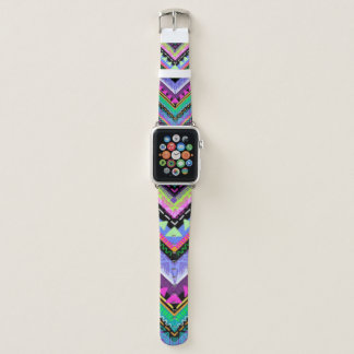 Bracelet Apple Watch Conception colorée d'impression de motif de zigzag