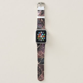Bracelet Apple Watch Conception en cuir d'impression de patchwork