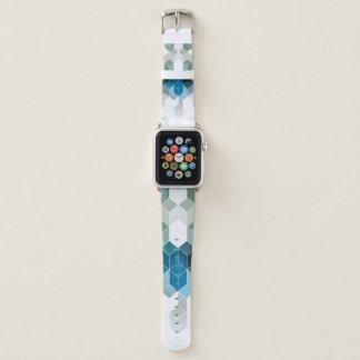 Bracelet Apple Watch Conception graphique de cube bleu génial