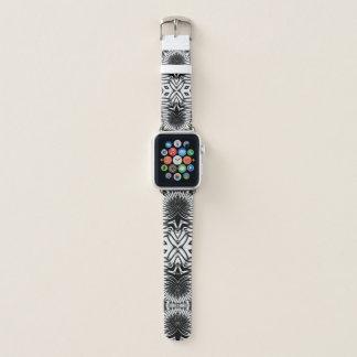 Bracelet Apple Watch Conception tribale énervée sauvage • Noir et blanc