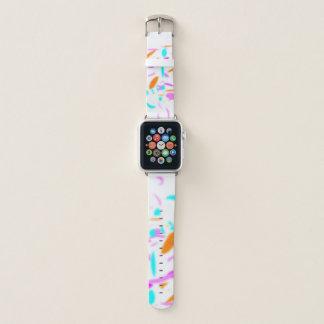 Bracelet Apple Watch Confettis en pastel