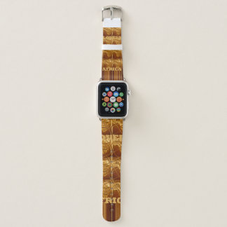 Bracelet Apple Watch Couleur africaine de conception de motif de cartes