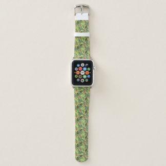 Bracelet Apple Watch Croquis de fruit tropical sur le motif vert