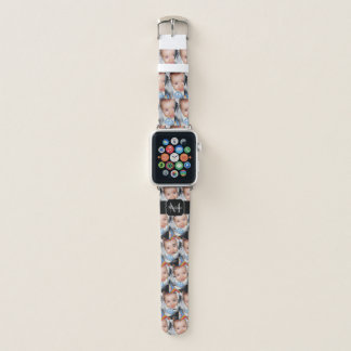 Bracelet Apple Watch Customisez-le avec votre motif et monogramme de