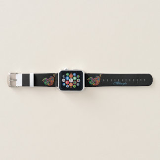 Bracelet Apple Watch Dragon asiatique coloré par arc-en-ciel
