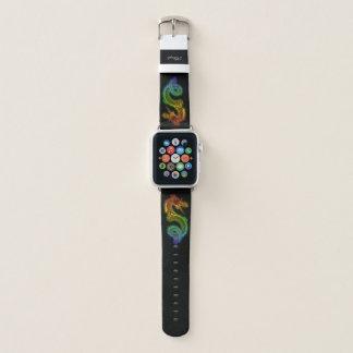 Bracelet Apple Watch Dragon féroce coloré par arc-en-ciel