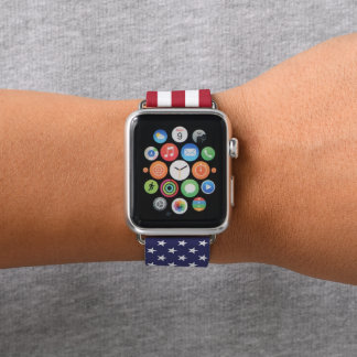 Bracelet Apple Watch Drapeau américain
