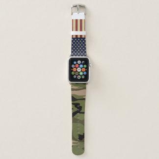 Bracelet Apple Watch Drapeau américain Camo