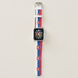 Bracelet Apple Watch Drapeau de la Slovaquie
