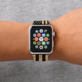 Bracelet Apple Watch Drapeau vintage des Etats-Unis