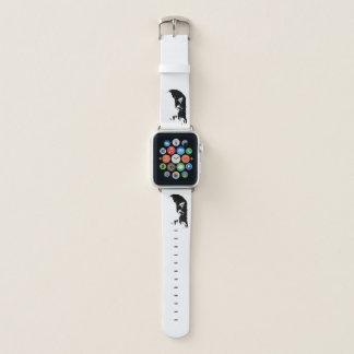 Bracelet Apple Watch Eagle chauve noir et blanc