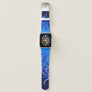 Bracelet Apple Watch Écoulement d'indigo - bande de montre d'Apple