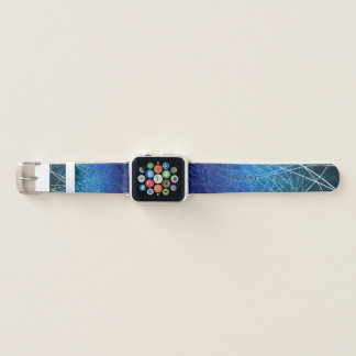 Bracelet Apple Watch Explosion linéaire cyan - bande de montre d'Apple