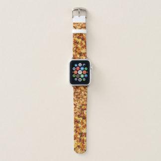 Bracelet Apple Watch Feuille d'érable de chute de jaune d'or