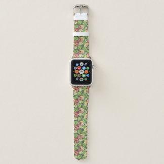 Bracelet Apple Watch Feuille et éléphants exotiques de jungle