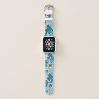 Bracelet Apple Watch Feuille hawaïenne de Monstera de cintre de falaise