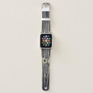 Bracelet Apple Watch Fibre de bois de gris de Monnogrammed